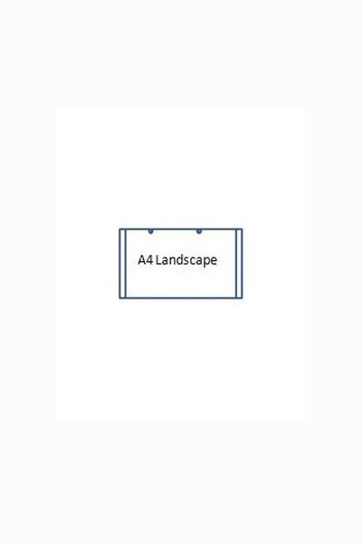 A4 Poster holder Landscape