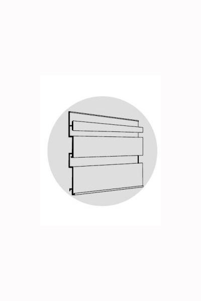 Aluminium Slat Wall 75mm pitch