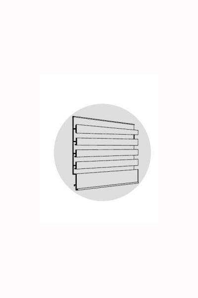 Aluminium Slatwall 25mm Pitch