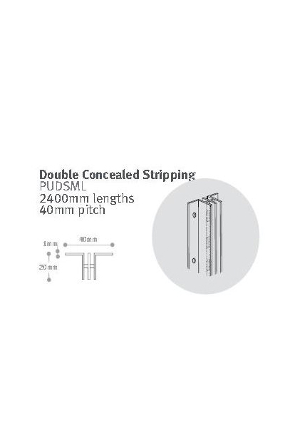 Double Concealed Stripping