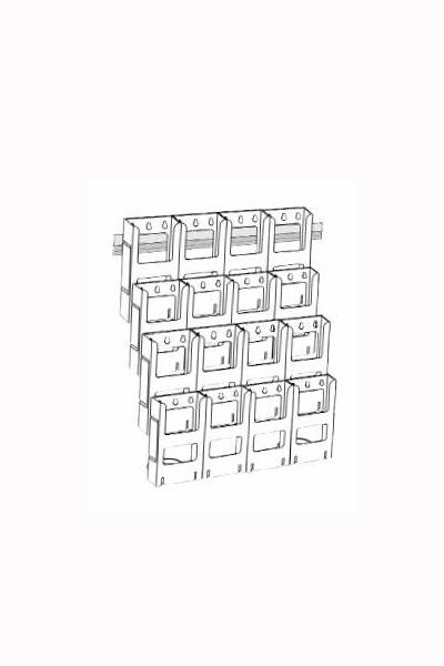 DLE Kit x 16 Holders : 4 Wide x 4 Down
