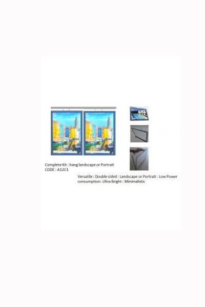 LED A1 Light Boxs Portrait or landscape 2 wide