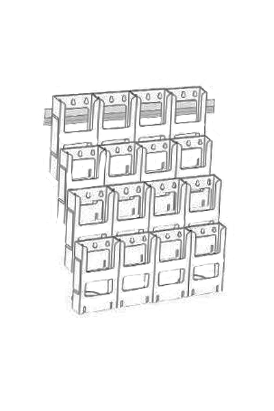 A4 Kit x 12 Holders : 3 Wide x 4 Down