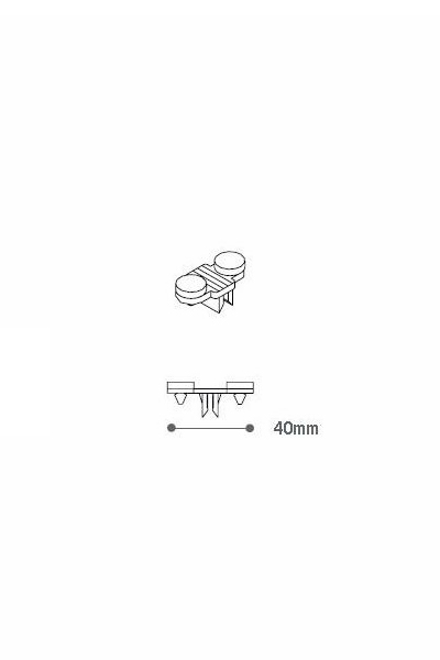 Clip & Grommets for Shelf Brackets Single