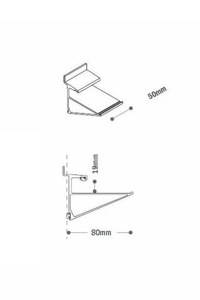 Aluminium Clip Timber Shelves