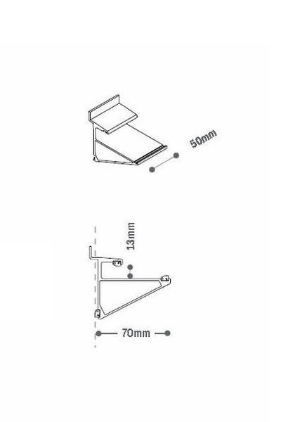 Aluminium Clip for Glass Shelves