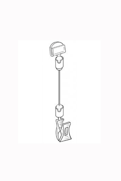 Wire sign Holder with Clip