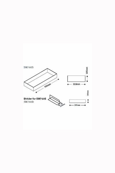 Display Tray and Divider for use with Shelf brackets