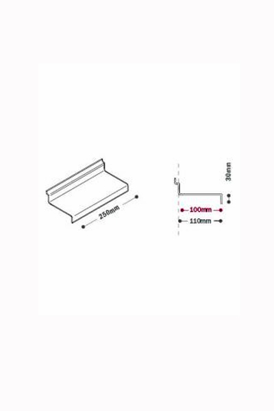 Flat Display Shelf with 30mm Ticketing lip