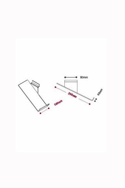 Sloping Shoe Shelf - Toe Stop L or R
