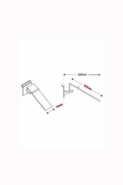 Swivel Shoe Display - Heel Stop