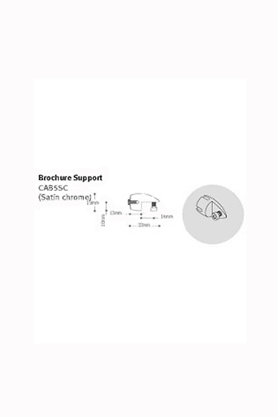 Broucher support for Cable display